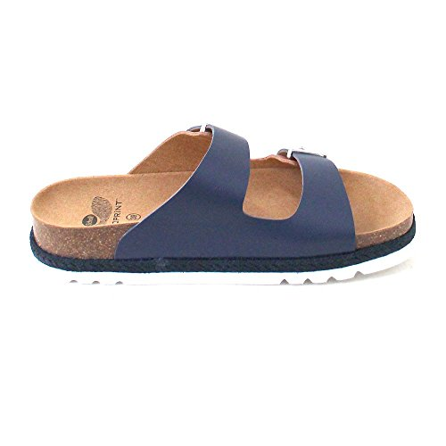 Scholl Olympe Navy Blue Tan Leather Braun