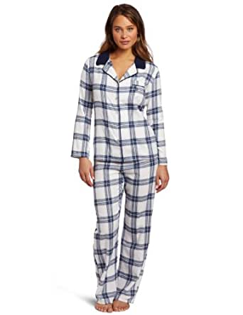 Tommy Hilfiger Women's Flannel Pajama Set, Girlie Plaid, X-Large