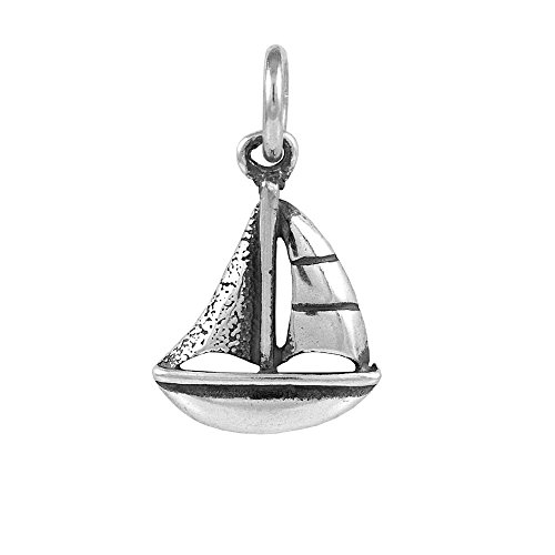 Sterling Silver Tiny Sailboat Charm Item #50658