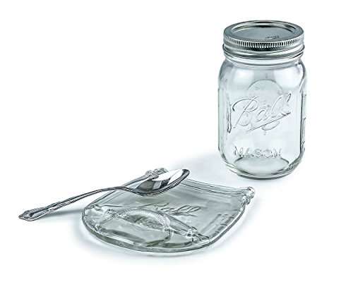 Melted Clear Glass Mason Ball Jar Spoon (Melted Glass Bottle)