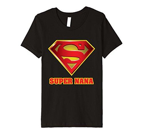 Super Nanny Costume (Kids Super Nana Funny Premium TShirt 10 Black)