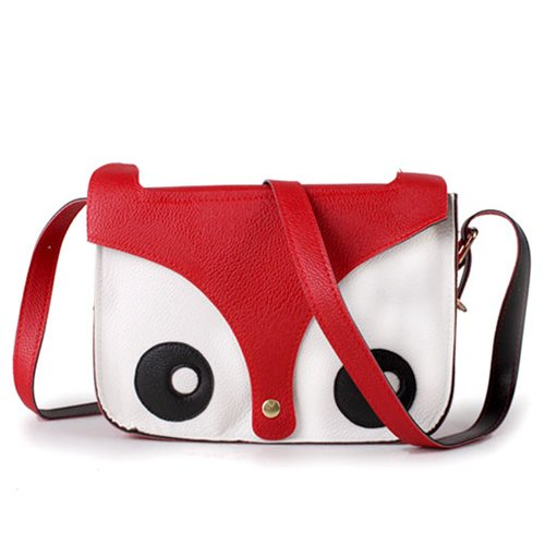 Red Messenger Owl BeautyLife Handbag Pu Satchel Crossbody Bag Leather Fox Cute Shoulder qPIwUIH