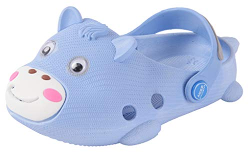 Yellow Bee Cow Pattern Clogs for Boys, Dark Blue