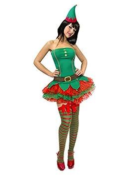Sexy duende de la Navidad para mujer Disfraz de elfo verde ...