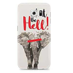 Samsung Galaxy S6 Edge Case Elephant What The Hell-Sleek Design Durable Wrap Around Phone Cover