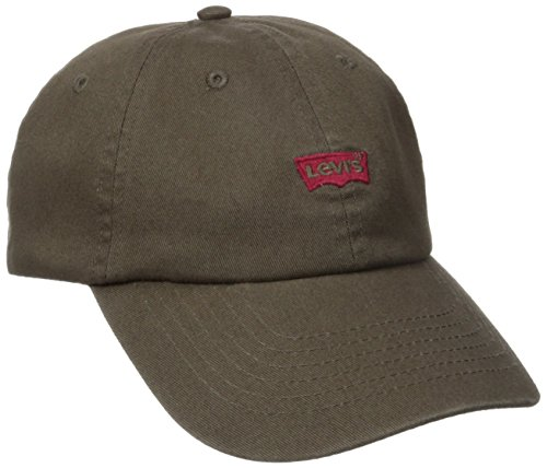Levi's Men's Brushed Twill Baseball Dad Hat, Brown, One Size