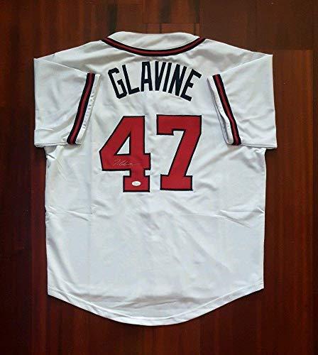 (Signed Tom Glavine Jersey - JSA Certified - Autographed MLB Jerseys)