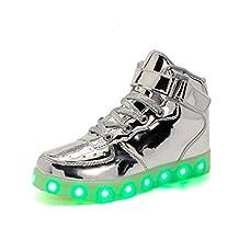 Children Breathable LED Light Up Shoes USB Sneakers for Kids Boys Girls