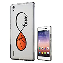 C0140 - Love Infinity Love Basketball Design Huawei Y6 Fashion Trend CASE Gel Rubber Silicone All Edges Protection Case Cover