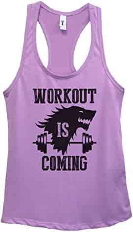 "39ededa1226552 Womens Tank Top ""Workout Is Coming"" Game Of Thrones Shirt Gift Funny Threadz"