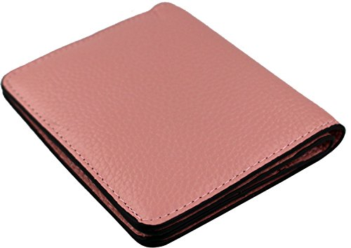 Women's RFID Blocking Small Genuine Leather Wallet Ladies Mini Card Case Purse (Pink) by KELADEY (Image #5)