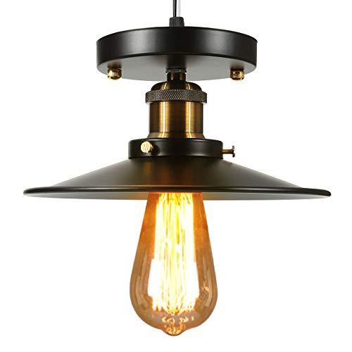 Mornajina Vintage Pendant Light Fixture, Brass Industrial Indoor Pendant Lighting Chandelier