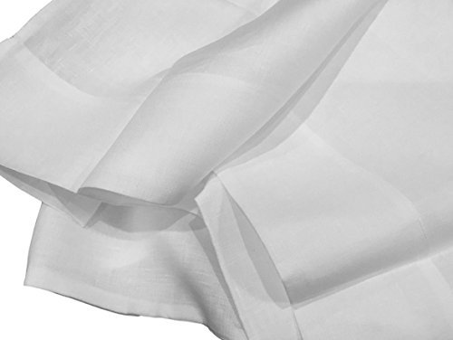 Bellino 100% Long Staple Pure Flax Linen Sheet Set Made in Italy (White, Queen) ()