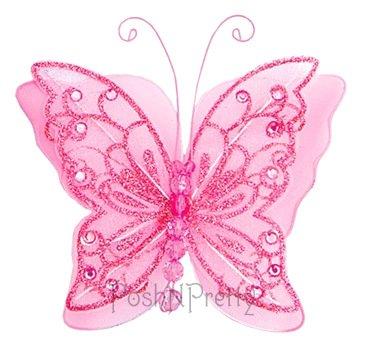 PoshNPretty Fairy Glitter Butterfly Wings, Newborn, Baby, Photography prop - (Baby Fairy Wings)