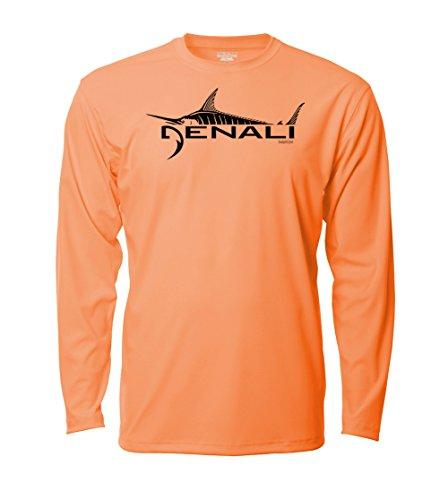 Denali Performance Men's UPF 50+ ProtectUV Mega Solar Long Sleeve T-Shirt with Denali Marlin ()