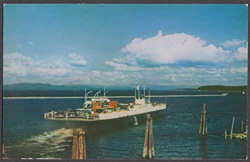 Lake Champlain Transportation M V Valcour Ferry postcard 1950s #2