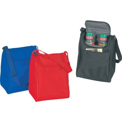 OKSLO Red - insulated poly lunch cooler bag, material: 600d polyester w/heavy vinyl ba