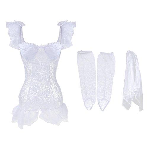 Suave Guantes Traje Elástica Novias Largos Vestido Ropa para Velo Nupcial Baoblaze Damas de Boda TzwATIq