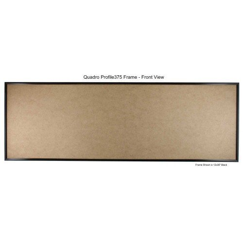 Quadro Frames 14x36 inch Picture Frame, Black, Style P375 - 3/8 inch Wide Molding