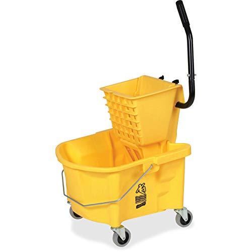 Genuine Joe Splash Guard Mop Bucket/Wringer - 26 Quart - Yellow