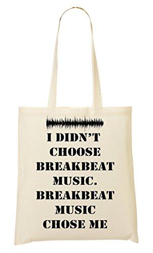 ShutUp I didn't choose Breakbeat music slogan Bolso De Mano Bolsa De La Compra