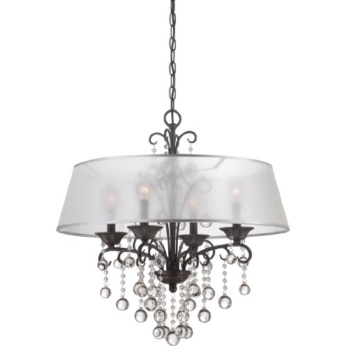 Quoizel CRE5004FR 4-Light Carrabelle Chandelier in French - Quoizel Wall Lighting French
