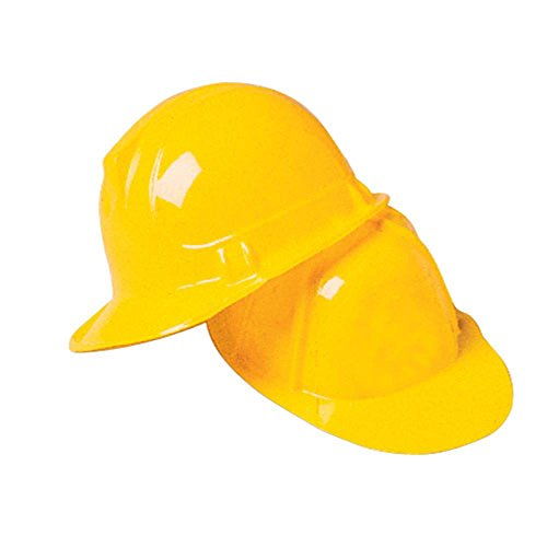 US Toy Construction Party Hard Hat (pack of 12) yellow]()