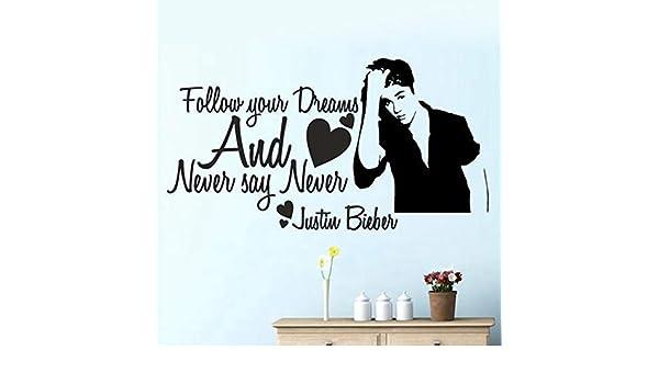 Envío Gratis Nunca Digas Nunca Justin Bieber Girls Room Tatuajes ...