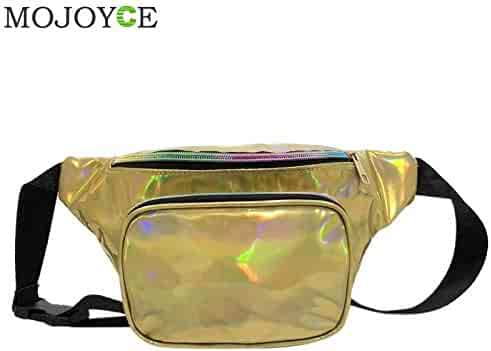 Fityle Cool Shiny Rave PU Leather Waist Fanny Pack Bum Bag for Women