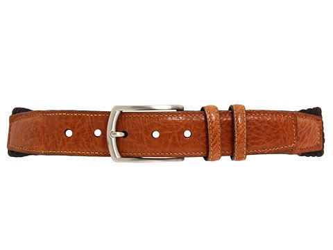 Torino Leather Co. Men's 32MM Italian Woven Multi Cotton Elastic Black Belt 46