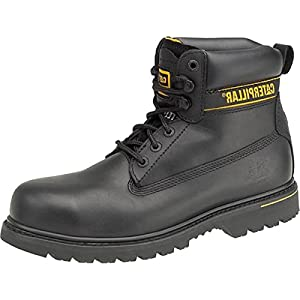 Caterpillar New Mens Holton S3 Safety Boot Gents Teci Flex Lace-Up Leather Shoes 34