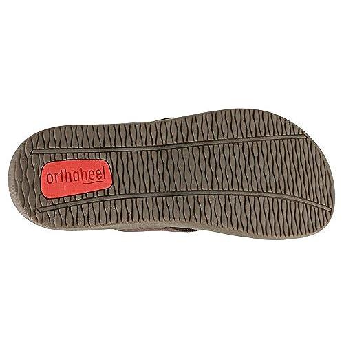b2a51385c1ad best Orthaheel Unisex Wave 2 Thong Unisex Chocolate Sandals Men s 10 ...