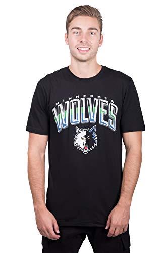 - NBA Minnesota Timberwolves Men's T-Shirt Arched Plexi Short Sleeve Tee Shirt, Medium, Black