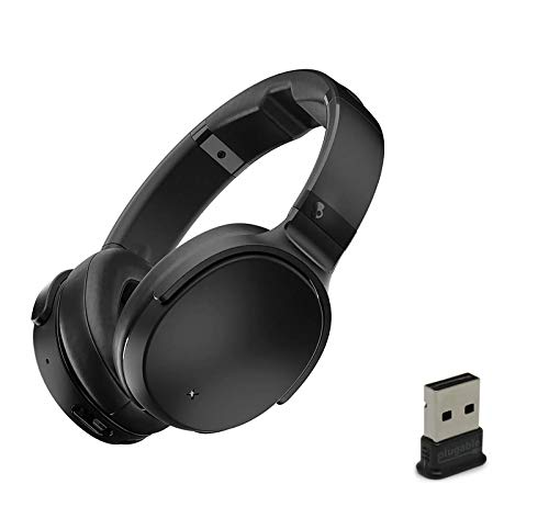 Skullcandy Venue Active Noise Canceling Wireless Bluetooth Headphone Bundle with Plugable USB 2.0 Bluetooth Adapter - Black