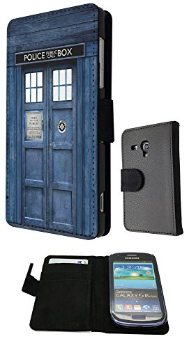 Doctor Who Tardis Police Call Box Samsung Galaxy S3 Mini FashionTrend Wallet Case Flip Credit Card Book Style Cover