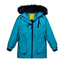 Wantdo Girls Waterproof Ski Jacket Winter Rain Coat Parka Outdoor Jacket