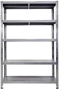 Estantería metálica Maciste – Alta capacidad – Estantería de metal galvanizado – 120 x 40 x 195 cm – 5 estantes – Capacidad 1300 kg