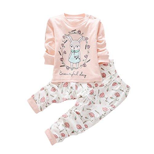 Pjs Piece 2 Long - Weixinbuy Baby Boys' Girls' Cotton Clothing 2 Piece Pajama Set Long Pants Outfit