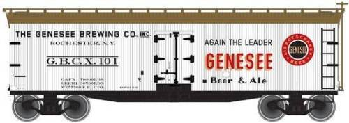 SP Whistle Stop ATM50001749 N Scale 40 ft. Wood Reefer Genesee Brewing from SP Whistle Stop