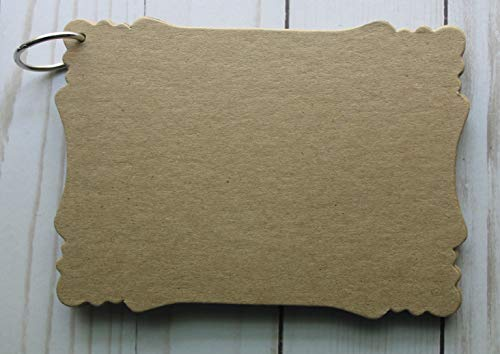 """8 Page Die cut bracket edge Chipboard Album 6 1/4 w x 4 1/2"""" h"""