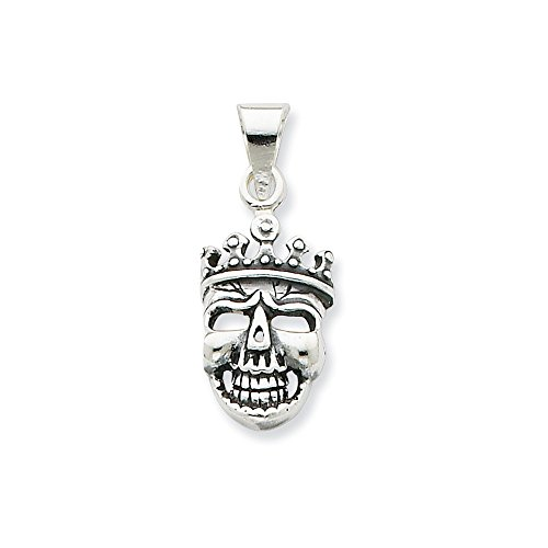 Crowned Skull Pendant - 925 Sterling Silver Crowned Skull Pendant Charm Necklace Dagger Dragon Fine Jewelry Gifts For Women For Her