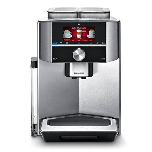 Siemens TI907501DE Kaffeevollautomat EQ.9 s700 (19 bar, Intelligentes Heizsystem, Dual Bean System, Barista Mode) edelstahl