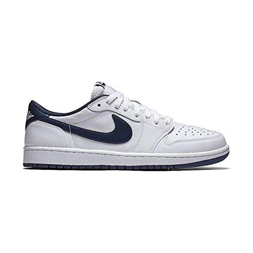 1 Retro Low OG White/Midnight Navy Basketball Shoe 10 Men US (Authentic Nike Air Jordan Shoes)