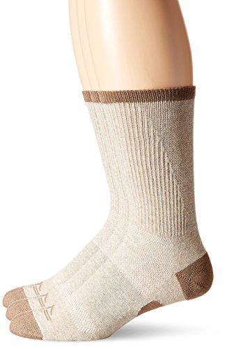 (Dockers Men's 3 Pack Temperature Management Crew Socks, Khaki, Shoe Size: 6-12 Size:)