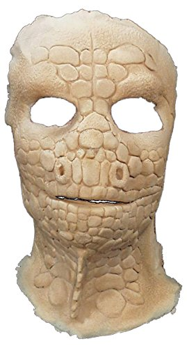 UHC Men's Scary Prosthetic Lizard Face Party Latex Halloween Costume Mask]()