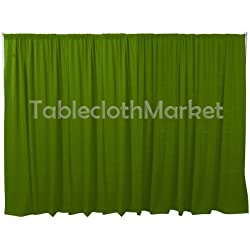 Polyester Backdrop 8 Ft Drape Background Pipe Display Curtain 96 x 60 Lime Apple Green