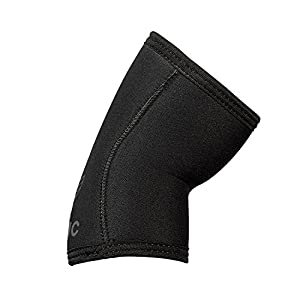 Stoic Elbow Sleeves for Powerlifting - 7mm + 5mm Thick Neoprene Sleeve for Bodybuilding, Weight Lifting Best for Squats, Cross Training, Strongman Professional Quality & Ultra Heavy Duty (Pair) by