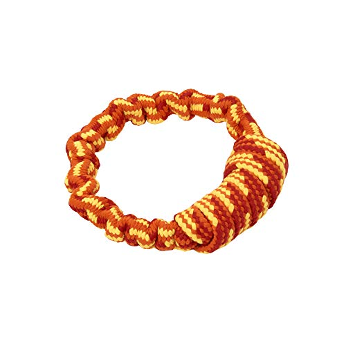 (Buster Dog Toys, Bungee Rope Handle, Orange, 6 in)