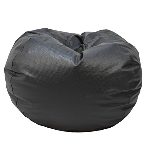 Ace Casual 1082001 Casual Basket weave Round Bean Bag Chair, Jumbo, Black by Ace Casual