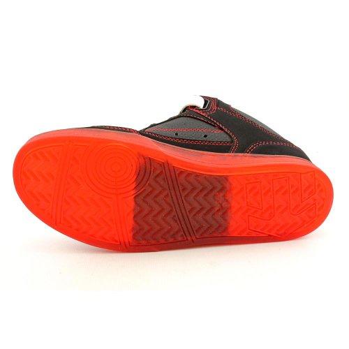 Etnies NUMBER MID 4102000066 - Zapatillas de skate de cuero nobuck para hombre Negro